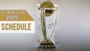 Icc World Cup 2015 Fixtures Cricket World Cup Schedule