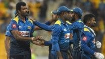 Thisara Perera then triggered a slide as Sri Lanka pulled things back in the death overs. From 190/3, Afghanistan slipped to 227/7. (Getty Image)