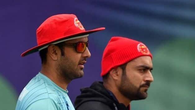 Afghanistan cricketers Mohammed Nabi Rashid Khan