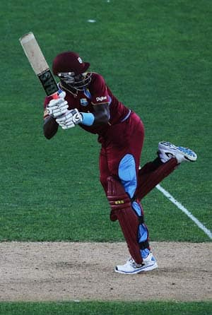 Darren sammy of the west indies flicks the ball away for four runs during the first one day internatio 1