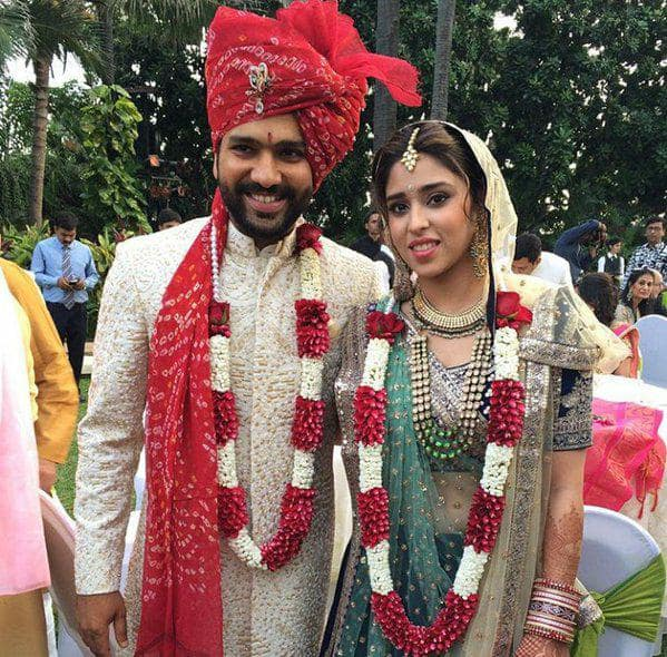 Rohit Sharma   Ritika Sajdeh wedding ceremony photos