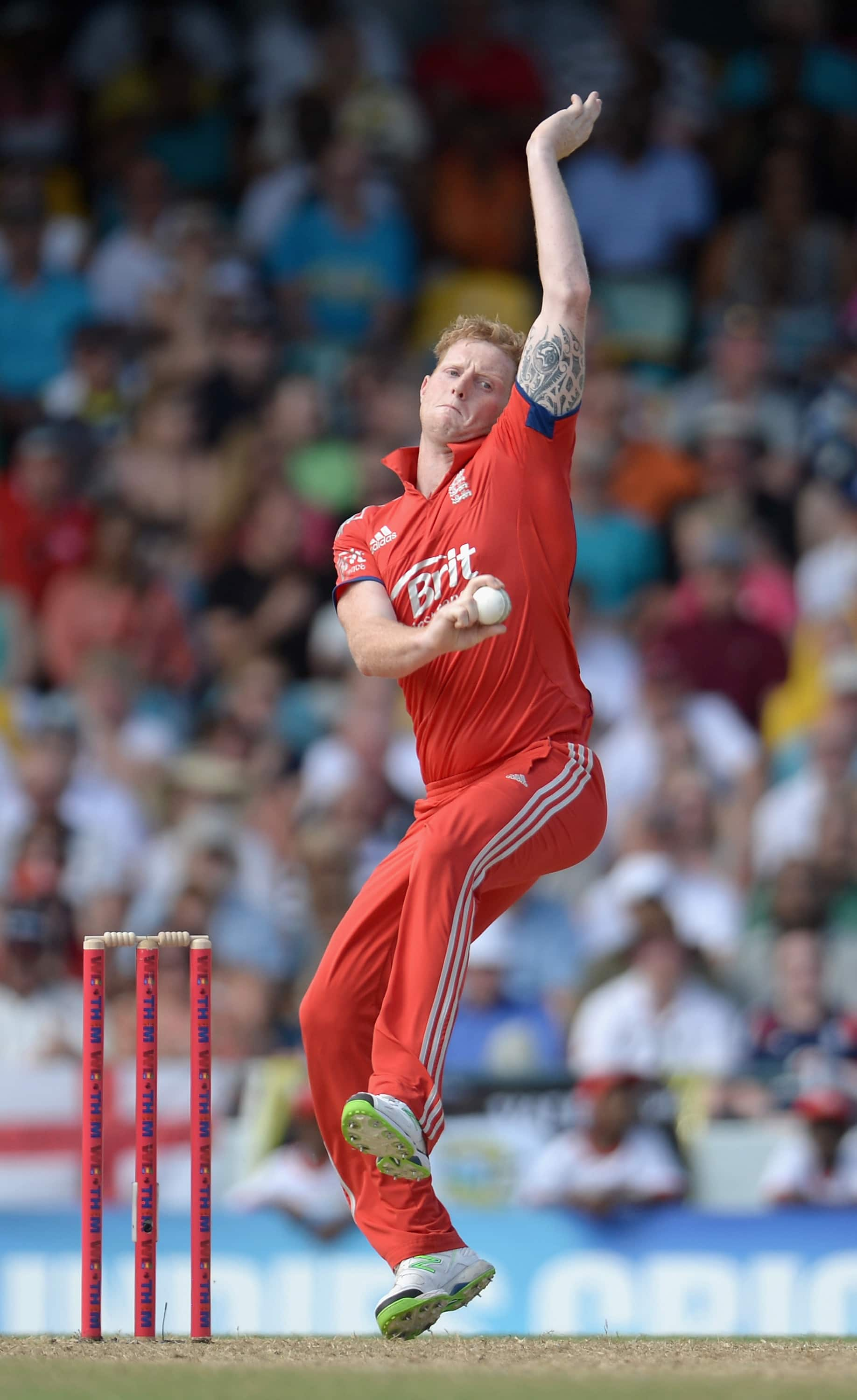 Ben Stokes charges in to release one of ...