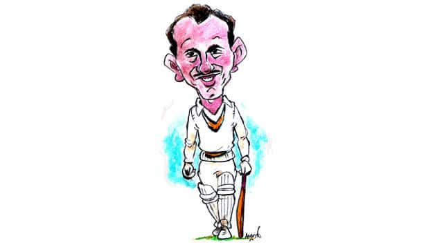 Rusi Modi used to stun the audience with his grace, elegance and consistency. Caricature: Austin Coutinho.
