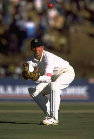 When South Africa emerged out of the wilderness after 21 years of isolation, it was Dave Richardson who kept wickets © Getty Images