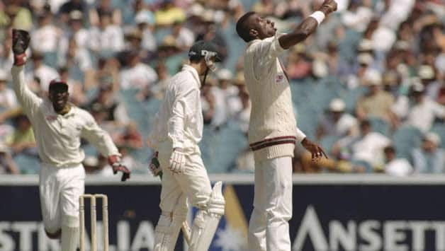 Curtly Ambrose was at his fiercest during the Boxing Day Test against Australia at the MCG in 1996 © Getty Images