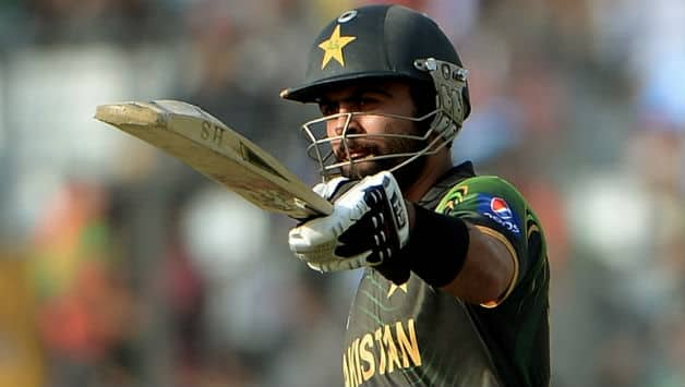 Ahmed Shehzad became the became the first Pakistan batsman to score a T20I century © AFP