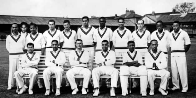 Back, from left: Andy Ganteaume, Rohan Kanhai, Nyron Asgarali, Gerry Alexander, Denis Atkinson, Tom Dewdney, Wes Hall, Garry Sobers, Bruce Pairaudeau, Roy Gilchrist, Collie Smith; front, from left: Sonny Ramadhin, Frank Worrell, John Goddard (c), Clyde Walcott, Everton Weekes, Alf Valentine © Getty Images
