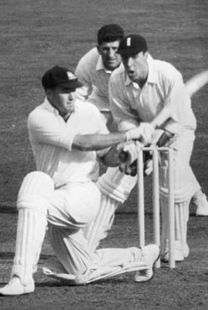 Peter Burge (batting in picture) collected 2,290 in 42 Tests at 38.16 for Australia © Getty Images