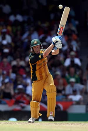 David Hussey top-scored for Australia with 59 runs © Getty Images