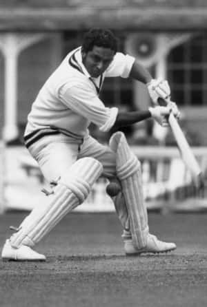 Dilip Sardesai in action against Essex at Colchester © Getty Images