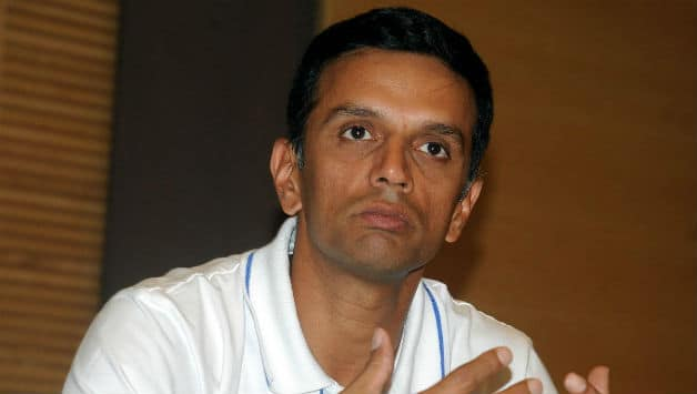 Rahul Dravid tends to move into his role of an orator with dignity, humour and considerable gusto © Getty Images