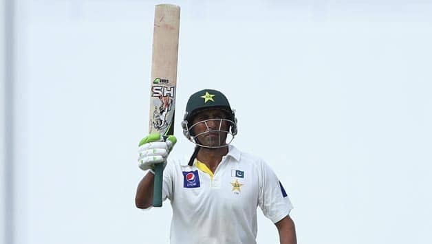 Younis Khan after his marathon 213-run knock on Friday also lifted his Test runs tally exactly equal to that of great Sir Gary Sobers (8,032) of the West Indies with both of them having featured in 93 Tests © Getty Images