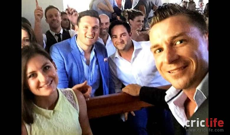 Cricketers At The Morne Morkel S Wedding From Left Ab De Villiers Graeme