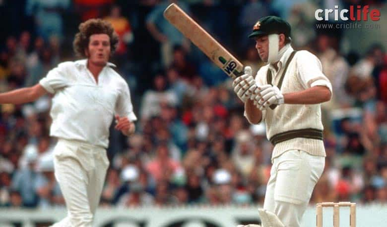 Rick McCosker comes out to bat with a broken jaw — against all expectations