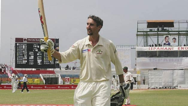 Jason Gillespie scored a double hundred on his birthday © Getty Images