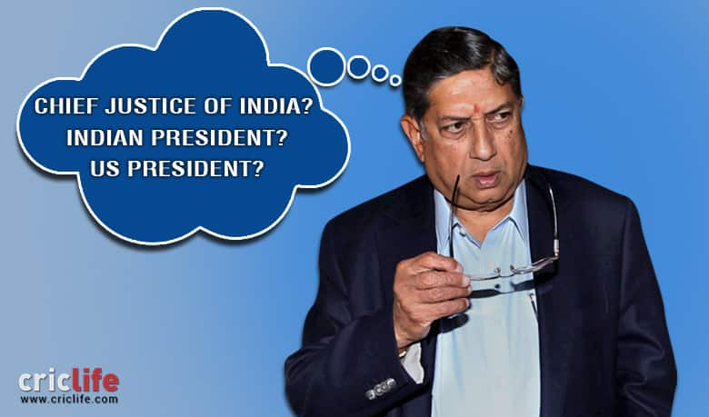 N Srinivasan eyeing the position of Chief Justice of India, if not then President