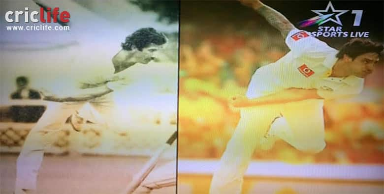 Alan Wilkins finish of bowling action has uncanny resemblance to Mitchell Johnson's finish
