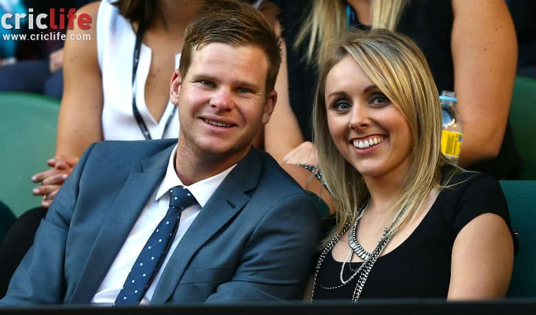 Steve Smith attends Australian Open with girlfriend Danielle Willis