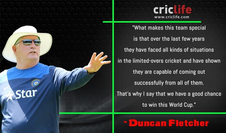 'India can win the World Cup', says Duncan Fletcher