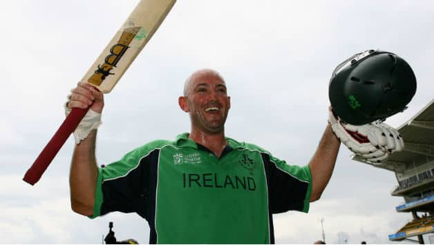 Jeremy Bray scored Ireland's first World Cup hundred © Getty Images
