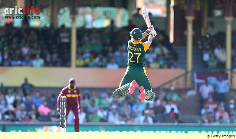 ICC Cricket World Cup 2015: South Africa batsman Rilee Rossouw — the acrobat!