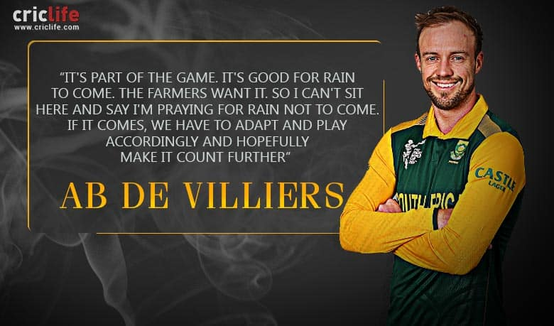 AB De Villiers Hopes It Doesn't Rain On South Africa's