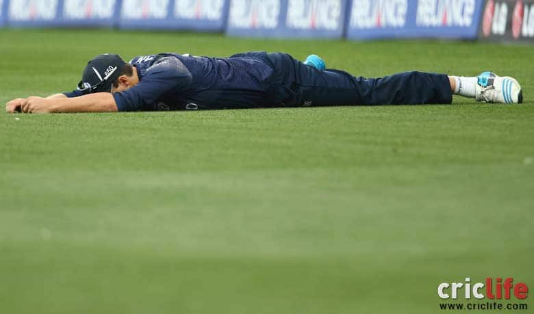 ICC Cricket World Cup 2015: Freddie Coleman drops a catch off Angelo Mathews