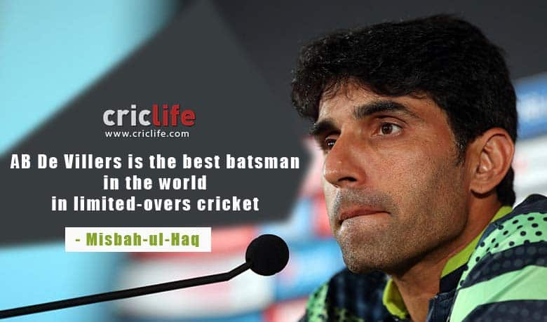 Misbah-ul-Haq: The only way to stop AB de Villiers is by getting him out
