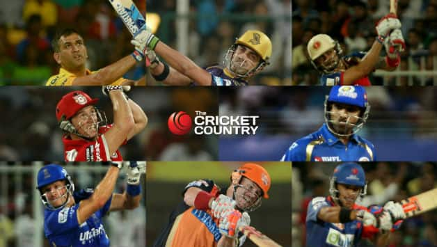 The eight captains of IPL 2015 © IANS