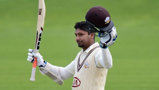 Kumar Sangakkara hit a brilliant hundred for Surrey © Getty Images