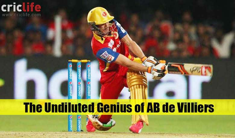 AB de Villiers has reworked the syllabus of batting ...