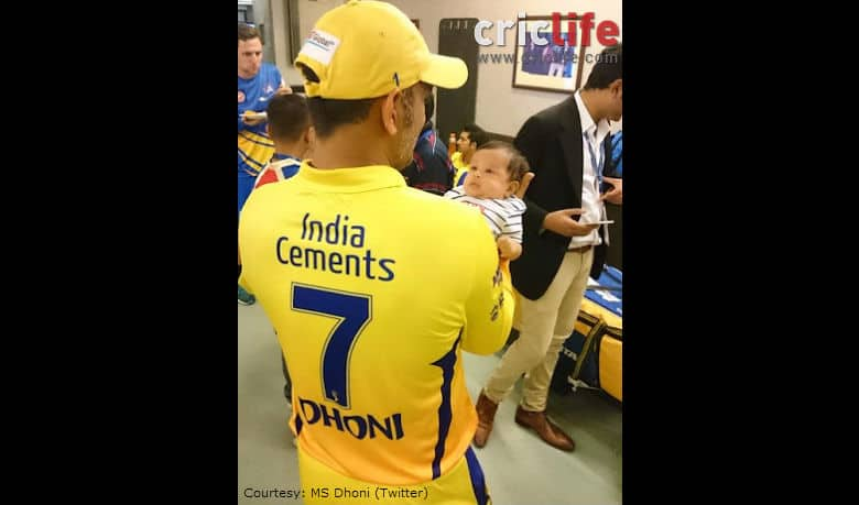 IPL 2015: MS Dhoni's daughter Ziva makes her stadium debut