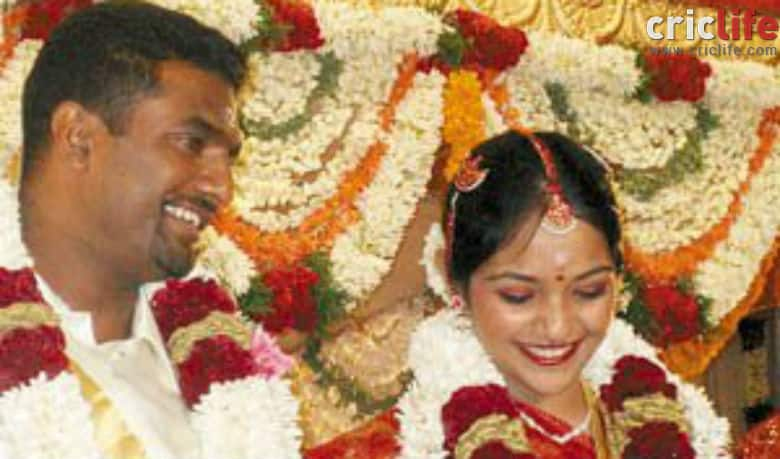 Murali and his wife