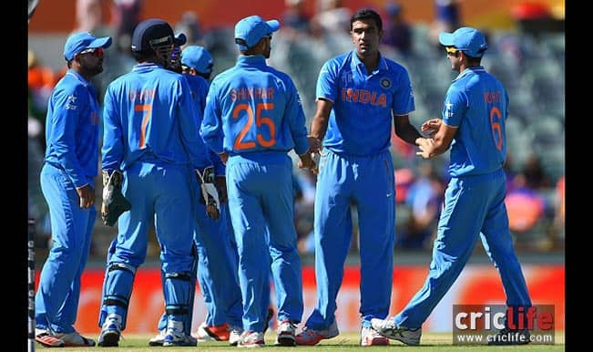 Ravichandran Ashwin celebrates another wicket with his teammates