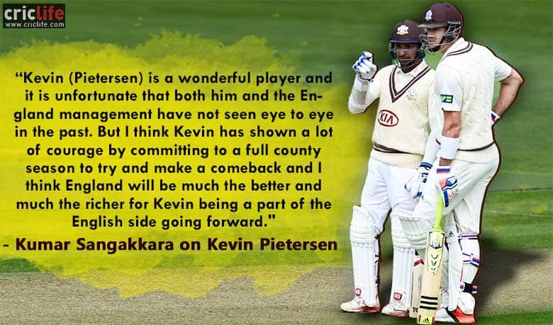 "Kumar Sangakkara believes Kevin Pietersen has ""much to offer"" to England's national side"