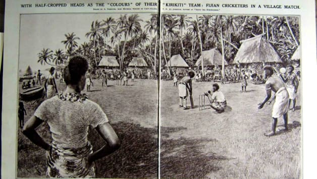 A sketch depicting kirikiti in Fiji on Illustrated London News, June 15, 1922. Photo Courtesy: Amazon.