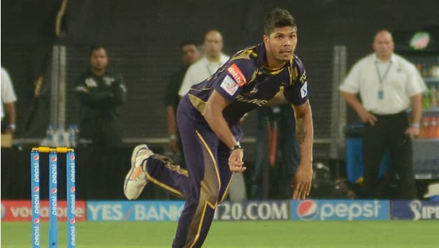 Umesh Yadav took two wickets for 34 runs from four overs  including    Umesh Yadav Bowling Action