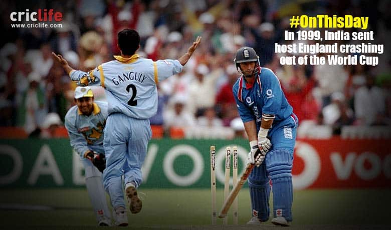 When a Sourav Ganguly-inspired India sent World Cup 1999 host England out of the competition