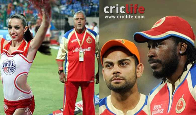 Vijay Mallya shows concern for his cheerleader girls; Chris Gayle is the cause of the 'troubles'