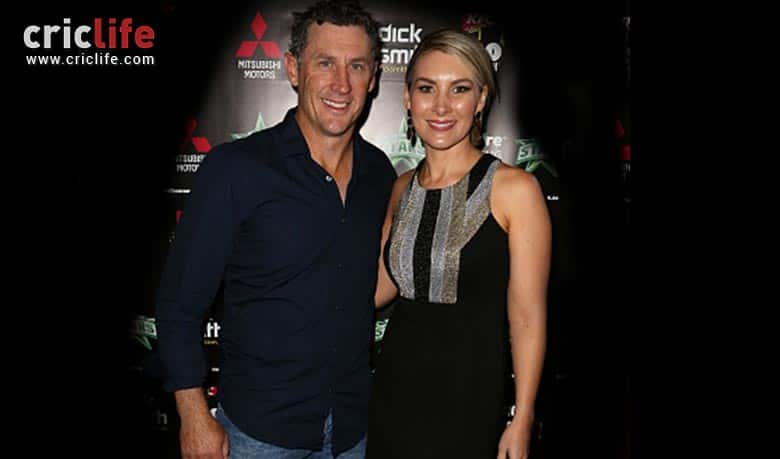 David Hussey with his adorable wife Kristy Hussey