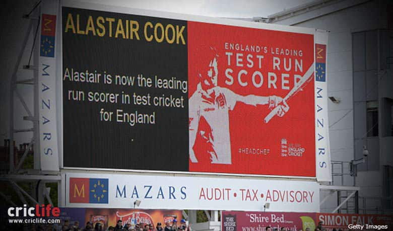 Headingley erupts on Cook's achievement as the leading run-scorer for England in Tests