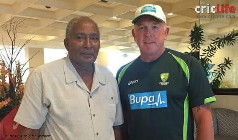 Two great fast bowlers meet in the paradise of Caribbean