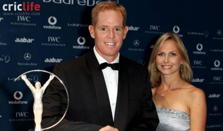 Shaun Pollock with his wife Patricia Lauderdale