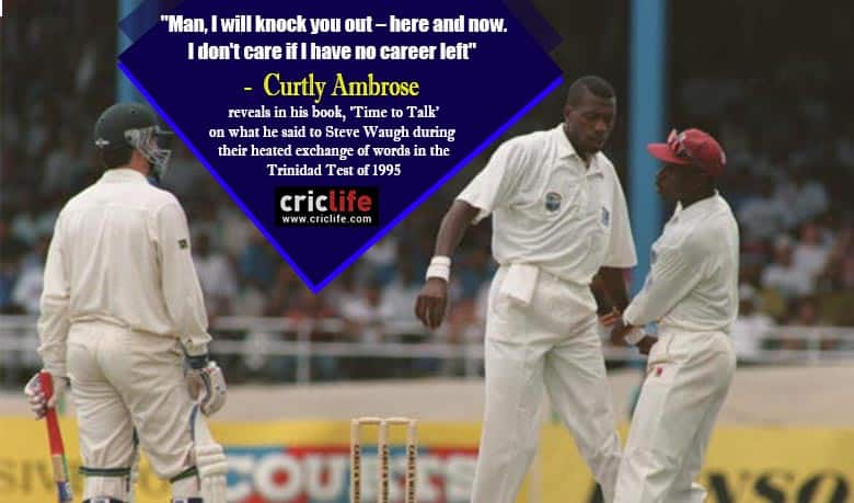 """When Curtly Ambrose threatened to """"knock out"""" Steve Waugh"""
