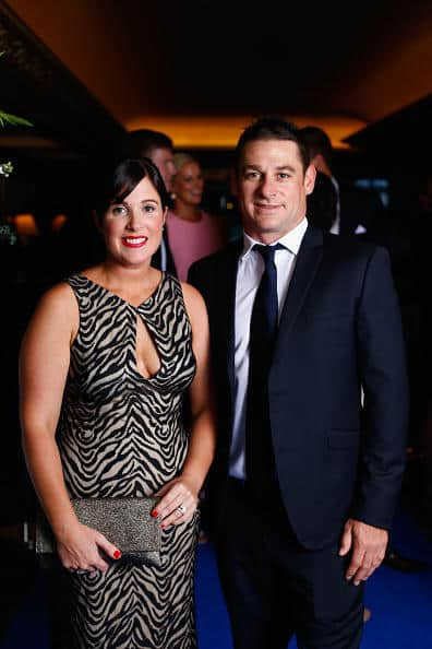Nathan McCullum with his wife Vanessa