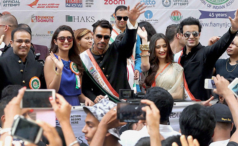 Virender Sehwag enthrals New York City at India Day parade