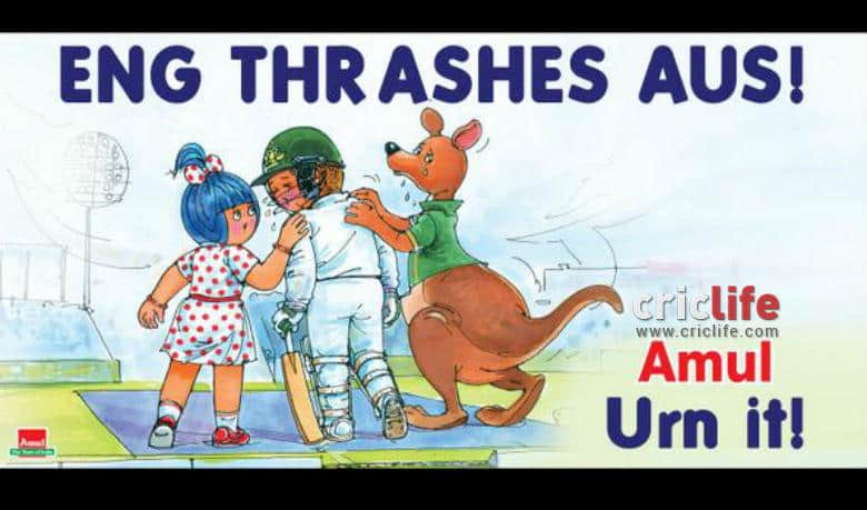 Amul takes a dig at Australia's 2015 Ashes nightmare