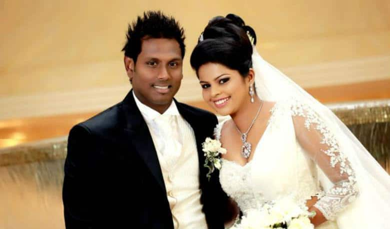 Angelo Mathews and Heshani Silva