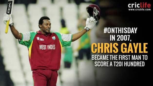 Chris Gayle scores the first Twenty20 International century