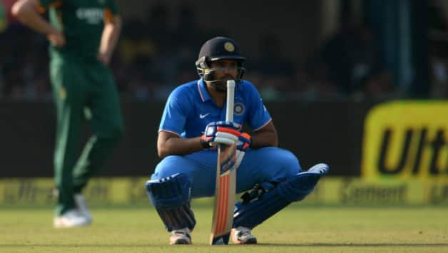 Another brilliant century by Rohit Sharma gone in vain © AFP